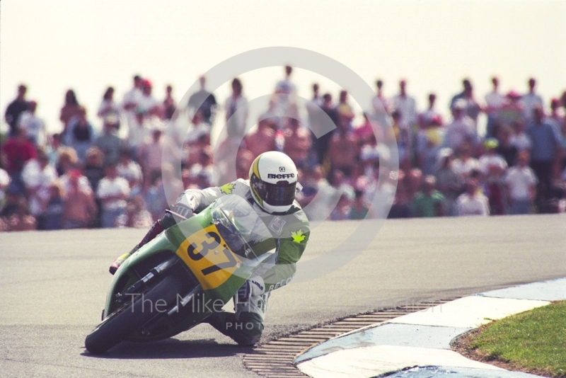 Kunio Machii, Yamaha, Donington Park, British Grand Prix 1991.