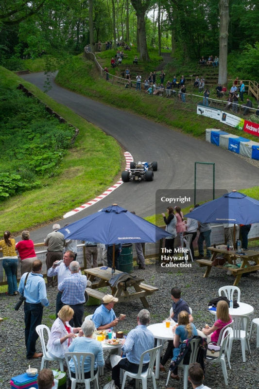 Spectators at the esses, Shelsley Walsh Hill Climb, June 1st 2014.