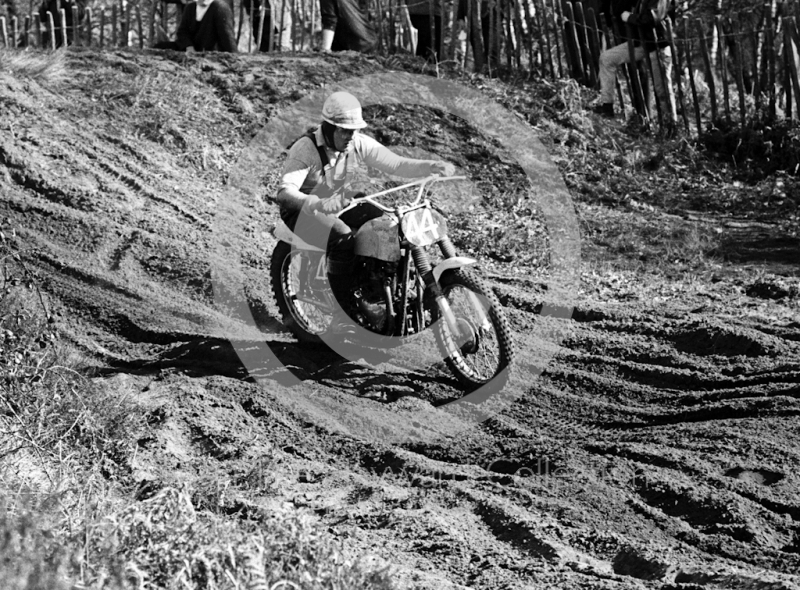 Berne Andrews, 500cc BSA, Hawkstone Park, March 1965.