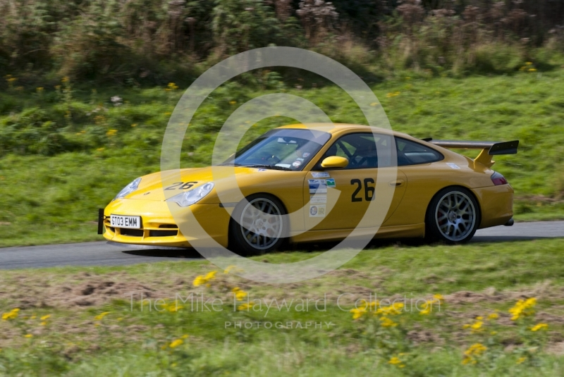 Robert Lancaster-Gaye, Porsche 996 GT3, Hagley and District Light Car Club meeting, Loton Park Hill Climb, September 2013.