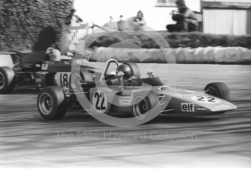 Pierre Rouselot, GRS International GRD 372, and Mike Tyrrell, Ensign F372, Mallory Park, Forward Trust 1972.