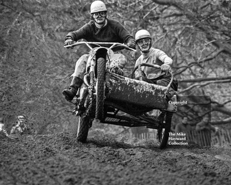 P Cooper, Flower Power 500, ACU British Scramble Sidecar Drivers Championship, Hawkstone Park, 1969.