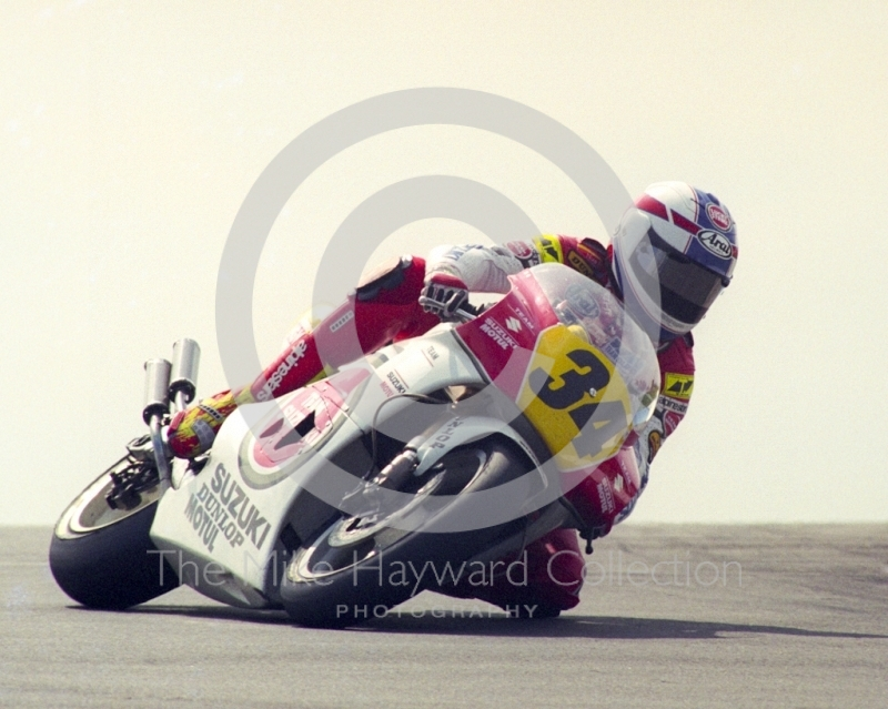 Kevin Schwantz, Team Lucky Strike Suzuki, Donington Park, British Grand Prix 1991.