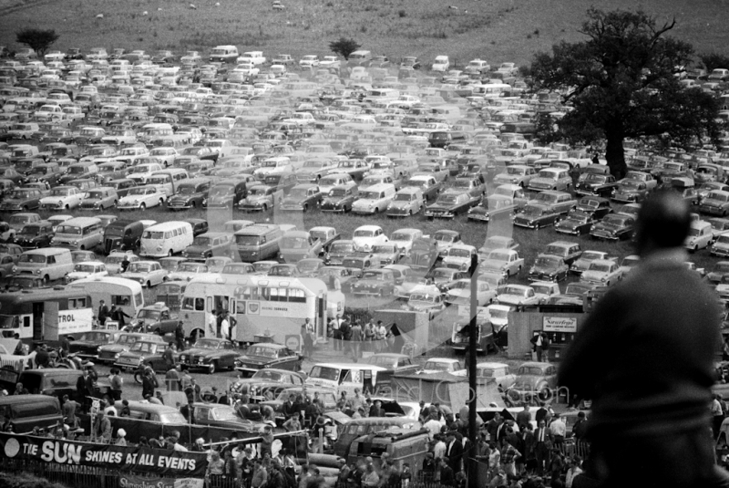 A view of the car park at Hawkstone for the 1965 Motocross Grand Prix, which attracted nearly 32,000 spectators.