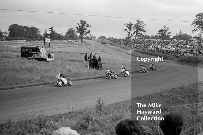 Motorcycle action, Oulton Park, 1964.