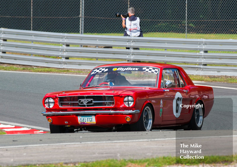 Warren Briggs, Ford Mustang, HSCC Historic Touring Cars Race, 2016 Gold Cup, Oulton Park.