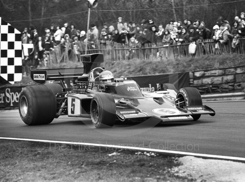 Ronnie Peterson, JPS Lotus 72, Brands Hatch, Race of Champions 1975.
