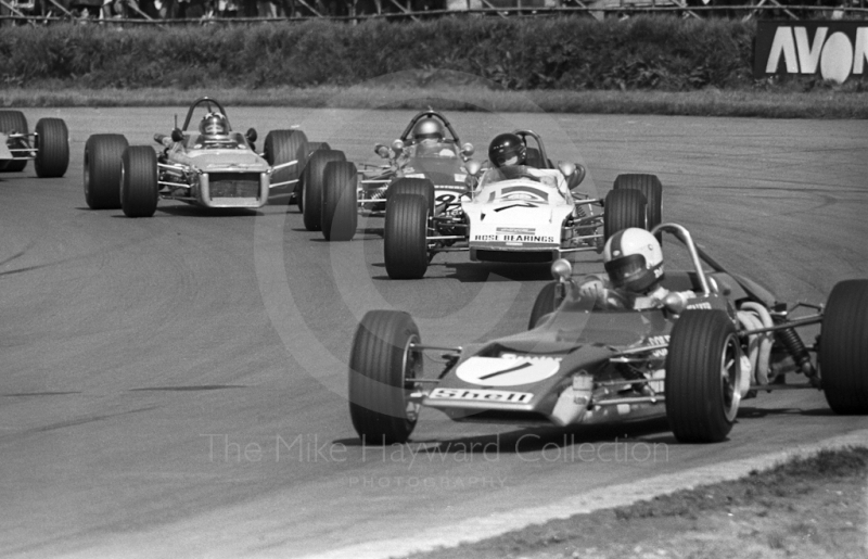Dave Walker, Lotus 69, James Hunt, March 713S, Silverstone, International Trophy meeting 1971.