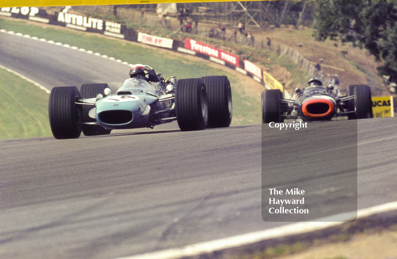 Jackie Stewart, Matra MS10, Pedro Rodriguez,BRM V12 P126, British Grand Prix, Brands Hatch, 1968.