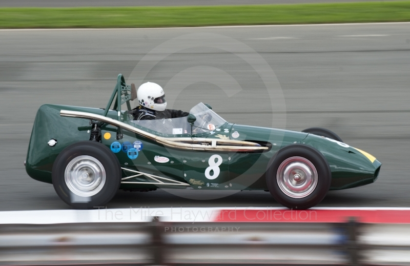 'Toothpaste Tube' Connaught C type of Michael Steele at Woodcote during the HGPCA event for Front Engine GP Cars at 2010 Silverstone Classic
