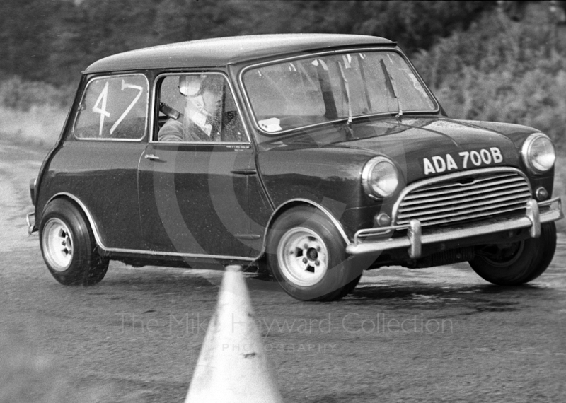 Mini, reg no ADA 700B, in action at Loton Park Hill Climb, 1967.