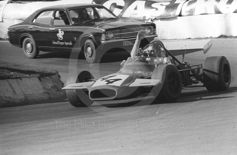 David Morgan, Edward Reeves Racing Brabham BT35-8, Mallory Park, Formula 2, 1972.