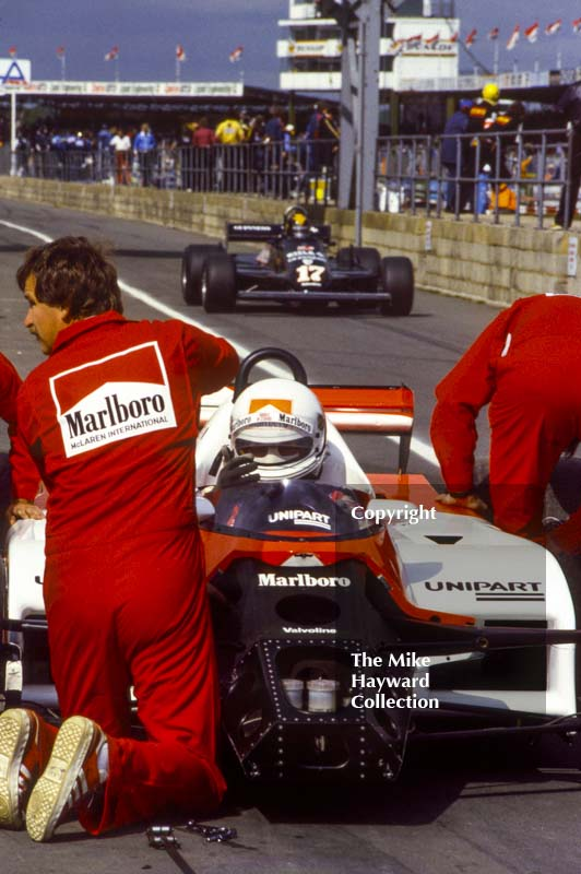 Andrea de Cesaris, McLaren MP4 Cosworth V8, Silverstone, 1981 British Grand Prix.