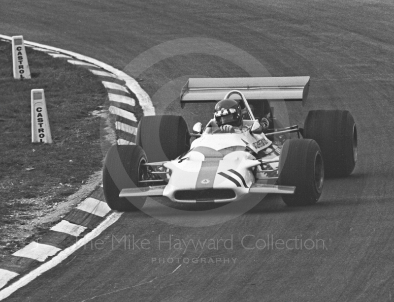 Jackie Oliver at Paddock Bend, Yardley BRM P153, Formula One Race of Champions, Brands Hatch, 1970