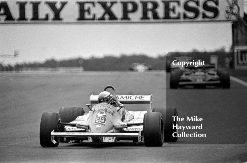 Riccardo Patrese, Arrows A3, Silverstone, 1981 British Grand Prix.