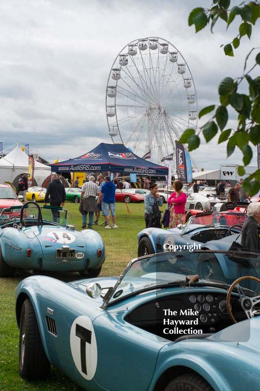 AC Cobras on display at the 2016 Silverstone Classic.