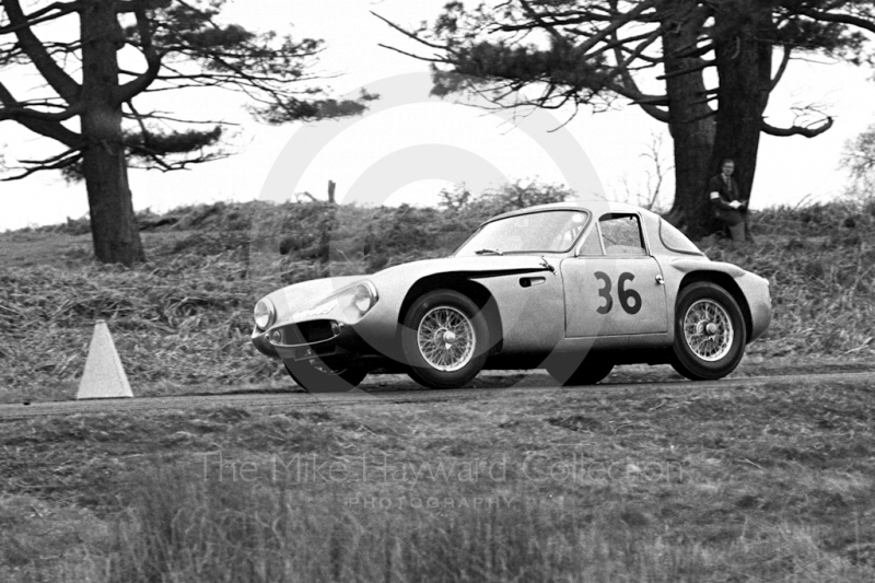 G P Taylor, TVR Mk 2, sixth National Loton Park Speed Hill Climb, April 1965.