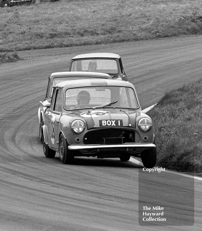 Bill Borrowman, Sports Motor Co Austin Cooper S (BOX 1), Redex Special Saloon Car Championship, BRSCC £1000 meeting, Oulton Park, 1967.