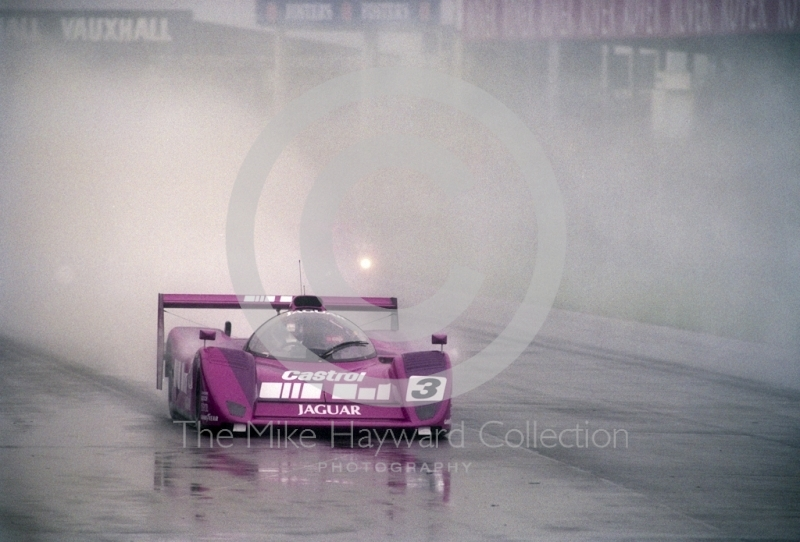 Derek Warwick, Silk Cut Jaguar XJR-14 Cosworth V12, Castrol BRDC Empire Trophy, World Sports Car Championship, Silverstone, 1991.