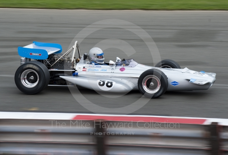 Gunther Alth, 1970 Formula One March 701, at Woodcote Corner, F1 Grand Prix Masters, Silverstone Classic, 2010