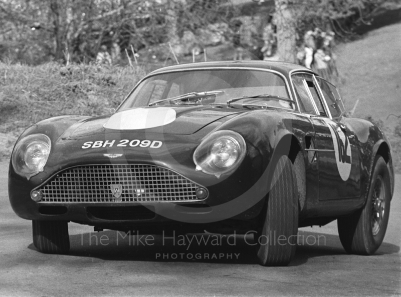 Tom Leake, Aston Martin DB4GT, reg no SBH 209D, Prescott, May 1968