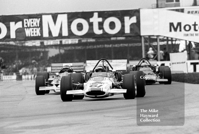 Peter Gethin, Sid Taylor F5000 McLaren M10B Chevrolet, Silverstone International Trophy 1970.