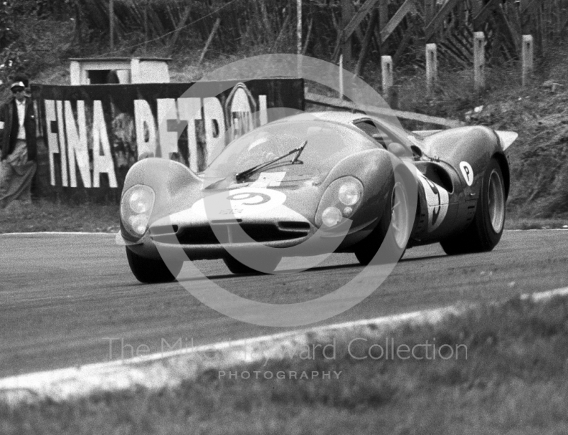 David Piper/Richard Attwood, Ferrari 412, Brands Hatch, BOAC 500 1967.