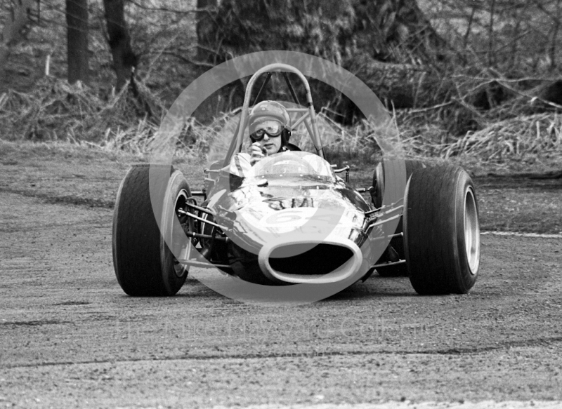John Cussins, BRM 4WD, Loton Park, April 27, 1969.