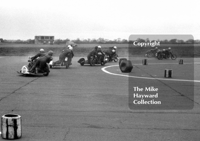 Perton Sidecar action, 1963, Perton Airfield, South Staffordshire.