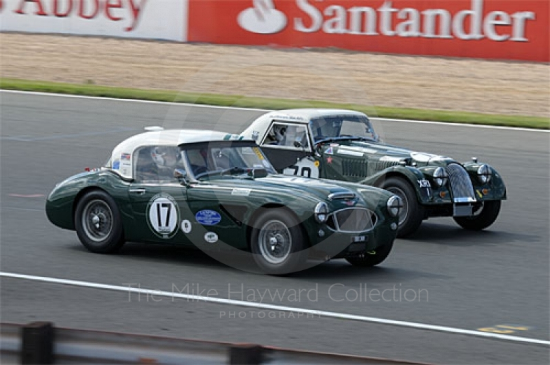 Austin Healey 3000 and Gabriel Kremer/Dion Kremer, 1962 Morgan Plus 4 Supersports, Masters Gentlemen Drivers' pre-1966 GT and Sports Endurance Cars, Silverstone Classic 2009.