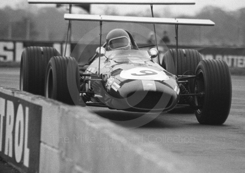 Jacky Ickx, Brabham BT26 A/3, at Copse Corner, Silverstone, International Trophy 1969.