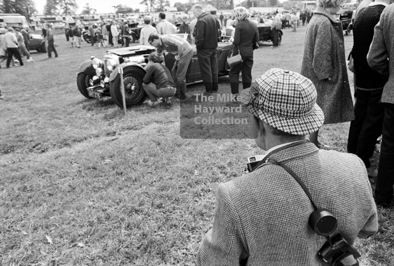 A view of the paddock, 1969 VSCC Richard Seaman Trophies meeting, Oulton Park.