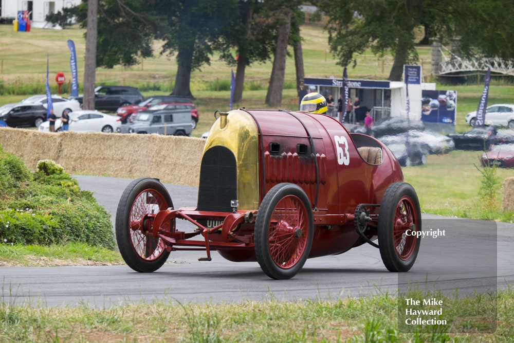 The Beast of Turin, Fiat S76, driven by Duncan Pittaway, Chateau Impney Hill Climb 2015.