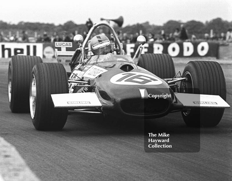 Piers Courage, Frank Williams Brabham BT26, Silverstone, 1969 British Grand Prix.