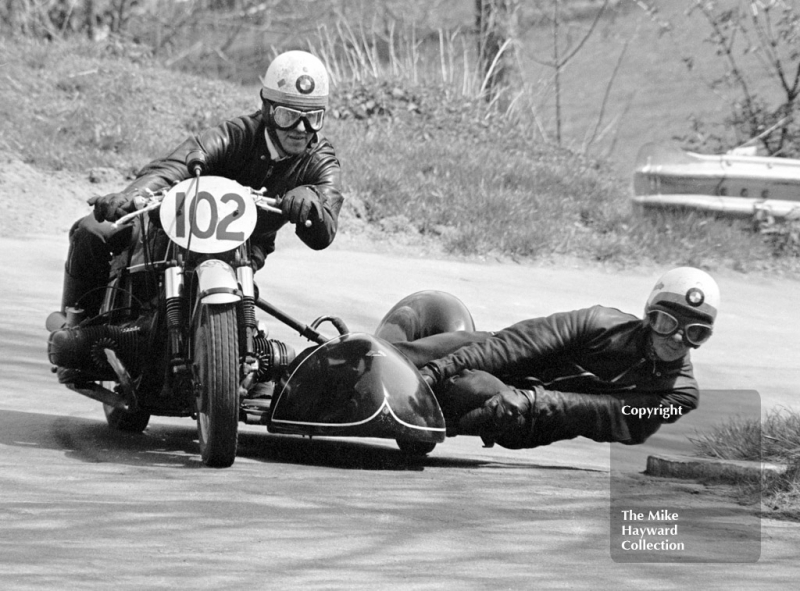 D Dickinson and S Cooper, BMW 734cc,  39th National Open meeting, Prescott Hill Climb, 1970.