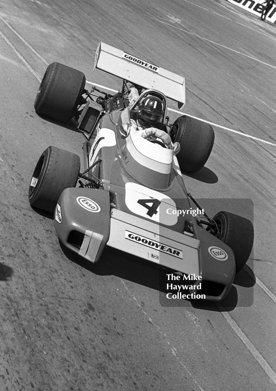 Graham Hill, Brabham BT34 DFV, Silverstone International Trophy 1971.