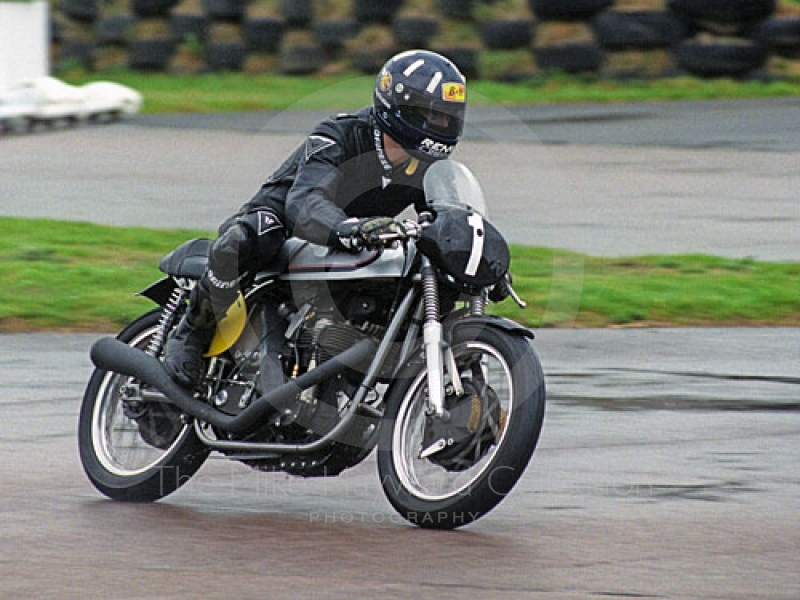 Damon Hill on a 1962 Manx Norton in the Lennox Cup, Goodwood Revival, 1999.