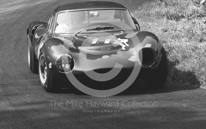 P Ridgway, Worcester Racing Association Ginetta G12, Shelsley Walsh Hill Climb June 1967.
