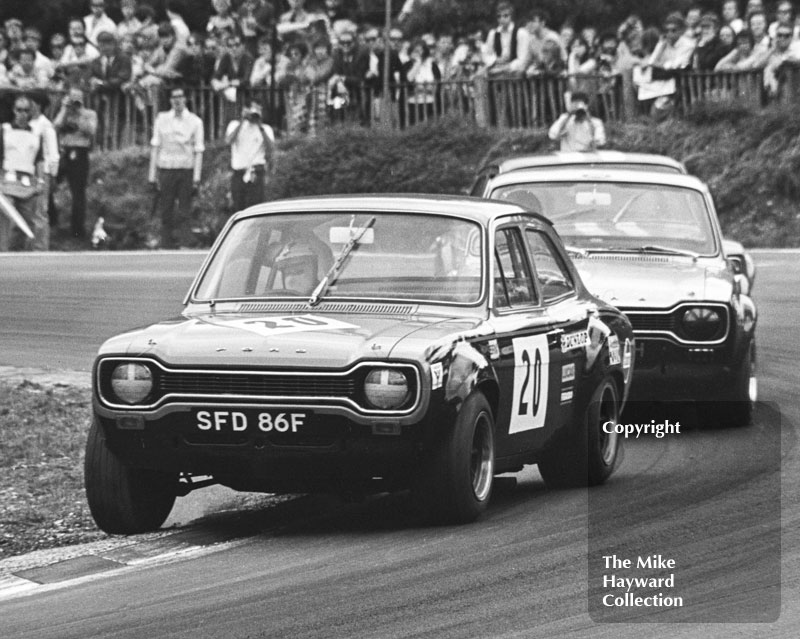 Lawrie Hickman, Ford Escort (SFD 86F) Brands Hatch, British Grand Prix meeting 1970.