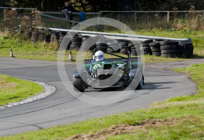 Les Mutch, Dax Rush IRS, Hagley and District Light Car Club meeting, Loton Park Hill Climb, September 2013.