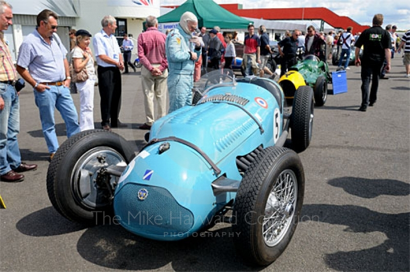 Richard Pilkington, 1950 Talbot T26, in the paddock prior to the HGPCA pre-1966 Grand Prix Cars Race, Silverstone Classic 2009.