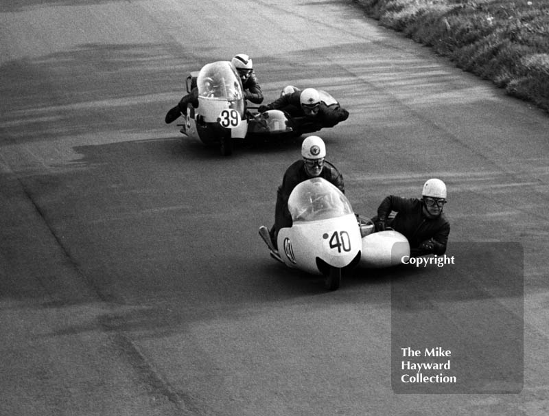 Sidecars, Clay Hill, Oulton Park, 1966