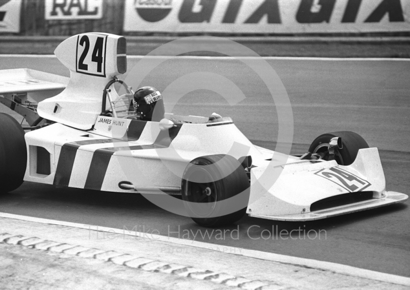 James Hunt, Hesketh 308, Brands Hatch, British Grand Prix 1974.