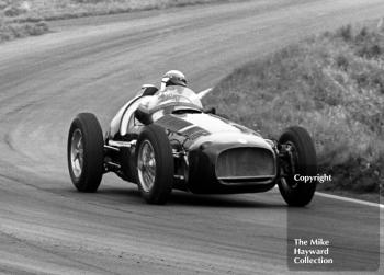 Jackie Stewart demonstrates a V16 BRM at the Oulton Park Gold Cup 1967.