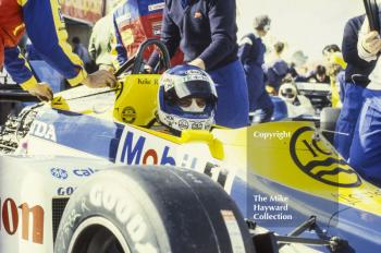 Keke Rosberg, Williams FW10, Brands Hatch, 1985 European Grand Prix.