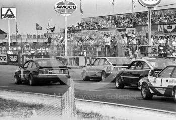 Gordon Spice, Rover Vitesse, Steve Soper, Rover Vitesse at the front of the grid of the Trimoco British Saloon Car Championship race, British Grand Prix, Silverstone, 1983.