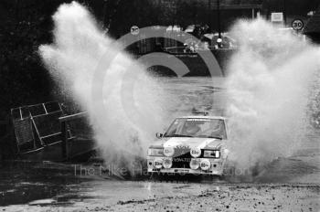 Anders Kullang/Bruno Berglund (S 944 703), Mitsubishi Lancer, water splash, Sutton Park, RAC Rally 1982