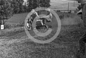 Sidecar flat out, Kinver, Staffordshire, 1964.