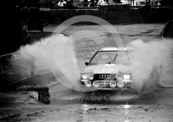 Audi, water splash, Sutton Park, RAC Rally 1982