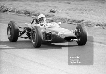 Ian Raby checks the mirrors of his F2 Merlyn Mk 9 Cosworth, Oulton Park Gold Cup, 1965